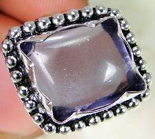 Quartz Amethyst & 925 Silver Handmade Unusual Ring Size O & gift box