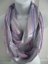 New women SOFT shiny GLITTER infinity circle long scarf eternity loop shawl wrap