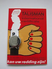 SOS Talisman, CHROME PLATED Medical Necklace, NEW in package. Plain version