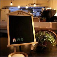 Wood Wooden Home Office Coffee Bar Desk Message Board Sign Blackboard Chalkboard