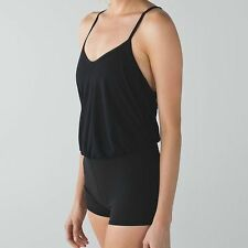 NWT $88 LULULEMON 10 DANCE TO YOGA LEOTARD HOT YOGA ROMPER BARRE BLACK LUXTREME