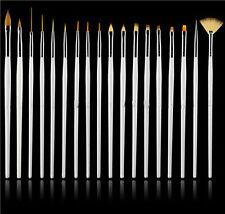 Lot of 15pcs Nail Art UV Gel Design Brush Set Painting Pen Manicure Tips Tools