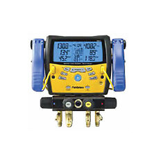 Fieldpiece SMAN460 4-Port Wireless Manifold w/ Micron Gauge, Clamps