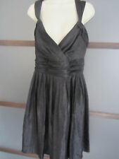 Alfani Dress Sz 14 Black Empire Waist Wrap Bust Shimmery Cocktail Party Wedding