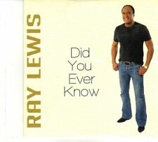 (DR352) Ray Lewis, Did You Ever Know - 2013 DJ CD