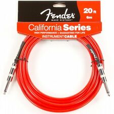Fender California Series Instrument Guitar Bass Cable 20' Feet Candy Apple Red