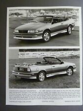 1996 Chevrolet Cavalier Convertible B&W FACTORY Press Photo RARE Awesome L@@K