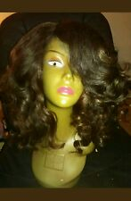 100% human virgin Brazilian hair full wig