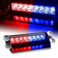 Red/Blue 8-LED Car Dash Strobe Light Flash Emergency Police Warning Safety Lamp