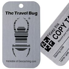 Genuine Groundspeak Original Travel Bug Geocaching Trackable Tag and Copy Tag