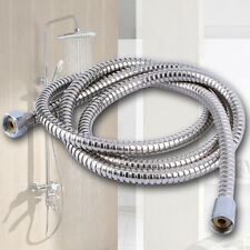 2M Flexible Shower Hose Stainless Steel Bathroom Heater Water Head Pipe Chrome