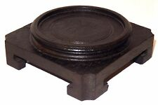 Antique Chinese Carved Wood Display Stand Antique 2 3/8 inch - Square Base