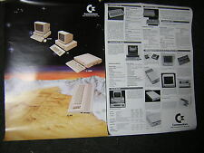 Originale 1986 Commodore Amiga C64 C128 PC poster plakat retro computer
