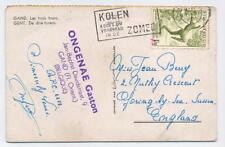 Belgium Gent Gand Ghent Transorma Red Ident AA 1955 Postal Mechanisation Card