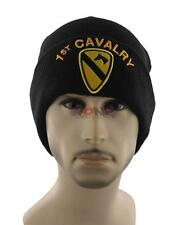 NEW! US ARMY 1ST CAVALRY BEANIE CAP HAT BLACK