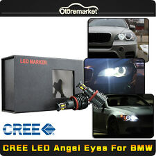 CREE Total 160W H8 LED Angel Eyes Halo Ring Light Bulbs HID Xenon White For BMW
