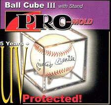 12 Pro Mold Cube III Baseball Holder Display Case  Ball Cradle - UV SAFE - NEW