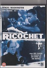RICOCHET DVD DENZEL WASHINGTON JOHN LITHGOW RATED 18