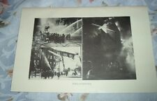 1919 FIREFIGHTERS Building Engulfed in Flame Old Engine (Early 1900s) Print