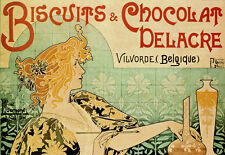 Belguim Chocolate - Biscuits - Deco Advert A3 Art Poster Print