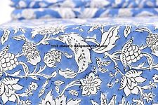 5 Yards Cotton Voile Hand Block Print Fabric Natural Dyes Sanganer Indian Floral