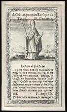 santino incisione 1600 S.GAZIANO V. DI TOURS