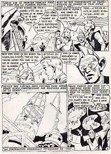 PLANETE EN FUSION PLANCHE DE MONTAGE AVENTURES FICTION ARTIMA 1959 PAGE 3