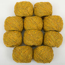 *10 Balls 250g*ROWAN FINE TWEED* Leyburn 383 Gold. knitting.British wool100%4ply