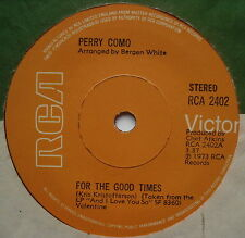 """PERRY COMO - For The Good Times - Excellent Condition 7"""" Single RCA 2402"""