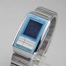 Casio Digital Watch Futurist Stainless Steel LA-201W-2BDF