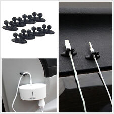 8x Practical Adhesive Wire Cord Cable Drop Clips Tie Organizer Holder Line Fixer