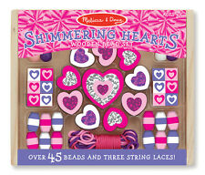 Fun!Melissa & Doug Shimmering Hearts Wooden Bead Set # 9495