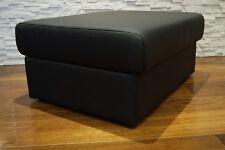 Echtleder Hocker aufklappbar mit Stauraum SitzHocker Rindsleder Sitzwürfel 75x55