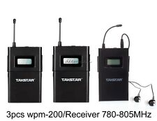Takstar WPM 200R In Ear Stage Wireless Monitor System Receiver 780-805MHz 3pcs