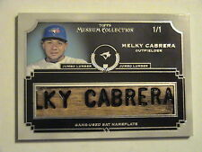 2013 Topps Museum Collection Melky Cabrera Toronto Blue Jays Bat Nameplate 1/1