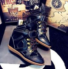 Isabel Marant Sneakers black leather with lacing