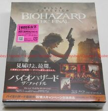 New Resident Evil The Final Chapter Premium 3D Limited Edition 3 Blu-ray Japan