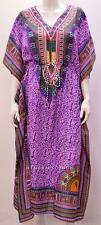 PLUS SIZE ETHNIC AFRICAN AZTEC PAISLEY PRINT KAFTAN DRESS PURPLE 24 26 28
