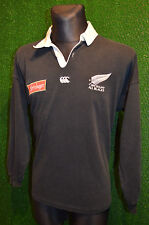 ALL BLACKS NEW ZEALAND CANTERBURY 1994 RUGBY SHIRT (L) JERSEY TOP TRIKOT BLACK