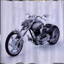 Dragon Chopper Motor Bike Bathroom Shower Curtain 180cm x 180cm Polyester