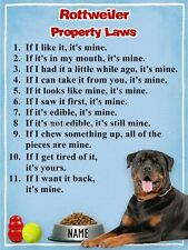 ROTTWEILER Property Laws Magnet