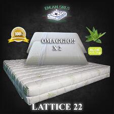 Materasso Lattice MATRIMONIALE 160x190cm Aloe Vera + 2 guanciali in OMAGGIO h.22