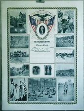 THE SOLDIERS RECORD original U S Army BROADSIDE *DISCOUNTED 50% mounted on linen