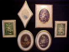 LOT 6 ITALIAN FLORENTINE Florentia FLORAL ART PRINT Wood WALL PLAQUES Italy