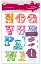 A5 Papermania Carnival 13 set clear stamps HALF Alphabet N - Z only 40mm letters