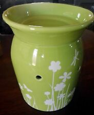SCENTSY Green MEADOW Warmer Burner for Wax Melts ~ SOLD OUT!