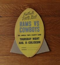 1963 *Easel-Back Football Sign* DALLAS COWBOYS v LOS ANGELES RAMS Charity Game!