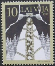 6th anniversary of independence stamp, Latvia, 1997, symbols, SG ref: 466, MNH