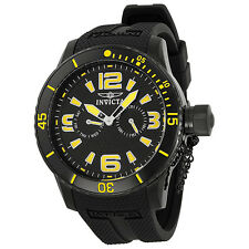 Invicta Corduba Black Dial Black Polyurethane Band Mens Watch 1796