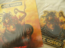 "ROCK GODDESS LP AND 7"" PICTURE DISC HELL HATH NO FURY a&m 68560"